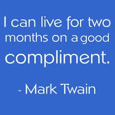 Compliment Mark Twain